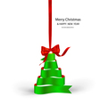Ribbon christmas tree vector image