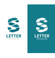 unique letter s logo design template vector image