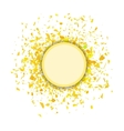 Yellow Confetti Round Banner vector image