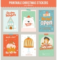 Collection of 6 Christmas gift tags and cards vector image
