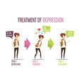 Mental Illness Depression Treatment Cartoon vector image