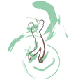 Sketch of man playing golf vector image vector image
