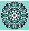 Colorful circle flower mandala background in light vector image vector image