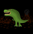funny tyrannosaurus rex vector image vector image