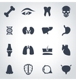 black anatomy icon set vector image