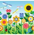 flower strip vector image