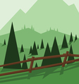 Abstract landscape design with green trees vector image