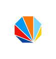 color spectrum technology logo vector image