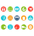 ecommerce round button icons set vector image