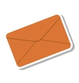 envelope letter paper isolated icon vector image