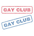 Gay club textile stamps vector image