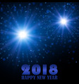 happy new year 2018 holiday fireworks vector image