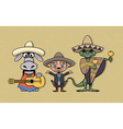 Mexican cartoon characters vector image