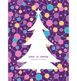 molecular structure Christmas tree silhouette vector image