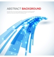 Moving blue abstract background vector image