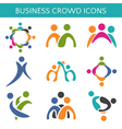 Set of icons crowd business relationship vector image