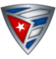 shield with flag cuba vector image