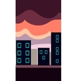 Vertical Landscape Flat City at vector image