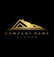 gold real estate logo vector image vector image