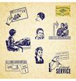 Vintage communication set vector image