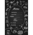 Food Menu on Chalkboard vector image