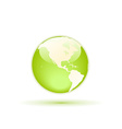 green globe vector image vector image