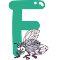 F for fly vector image vector image
