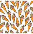 Soft serve ice cream cones retro seamless pattern vector image vector image