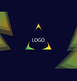 background with triangle focus for signs or vector image