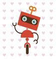 Cute little robot vector image