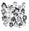 faces in a crowd vector image