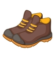 Hiking boots icon cartoon style vector image