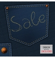 Jeans sale vector image