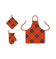 Kitchen apron and potholder vector image