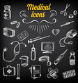 Medical icons sketch design Healthcare drawing vector image