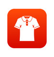 men polo shirt icon digital red vector image