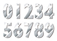 Silver numbers vector image