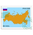 mail to-from Russia vector image vector image