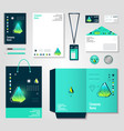 polygonal crystals corporate identity items design vector image
