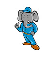 Cartoon elephant busboy or bellboy posing vector image vector image