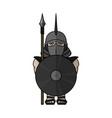 spartan warrior stylized warrior vector image