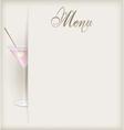 menu vertical martini vector image