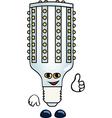 Funny lightbulb vector image vector image