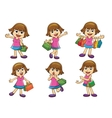 girl shopping vector image vector image
