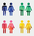 man and woman icon Abstract Triangle vector image
