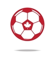 red football icon with maple vector image