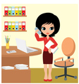 pretty girl - business woman vector image vector image