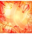 Abstract techno rise background with flowers vector image vector image