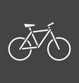 bike silhouette icon on grey background bicycle vector image