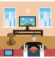 Domestic leisure vector image